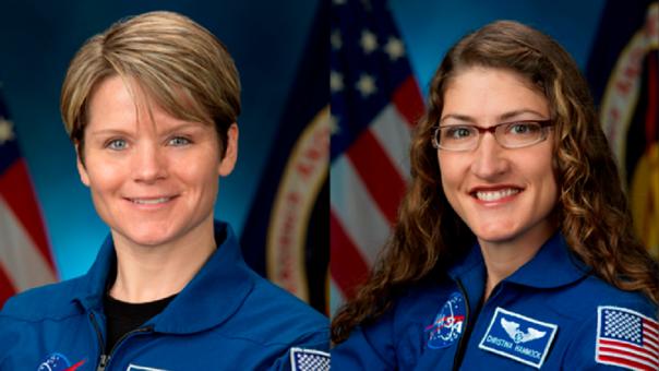 Anne McClain y Christina Koch serán el primer grupo únicamente conformado por mujeres que realizará una caminata espacial.