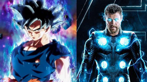 Gokú hace una entrada muy similar a la de Thor.