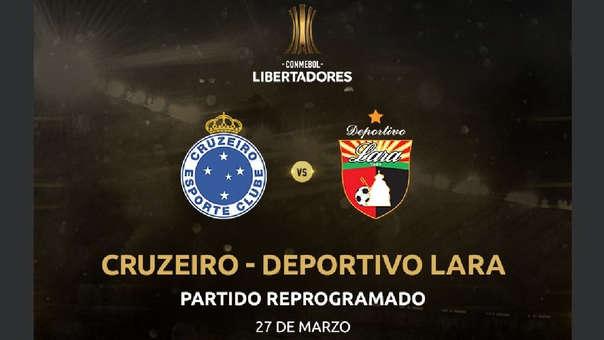 Cruzeiro vs. Deportivo Lara