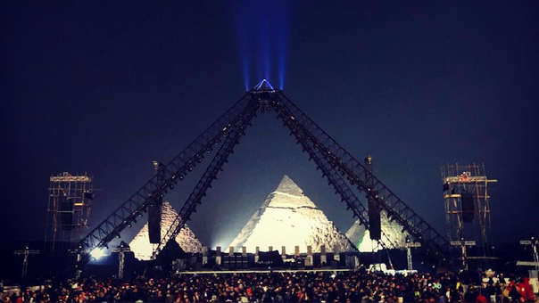 La banda estadounidense ofrecerá por primera vez un concierto en las pirámides de Egipto.