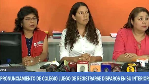 Conferencia de prensa Villa el Salvador
