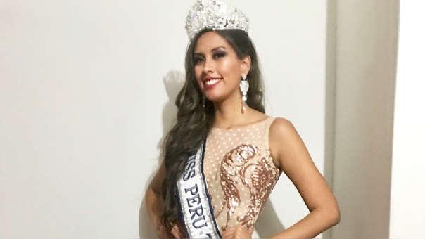 Claudia Meza, coronada Miss Perú Trujillo, perdió su corona.
