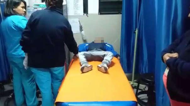 El menor fue trasladado al hospital de Huaraz.