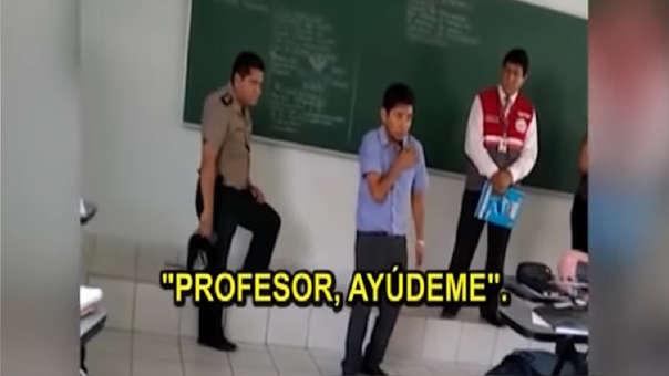 El docente narró que el alumno que falleció, se paró y le pidió ayuda, para luego caer en el suelo.