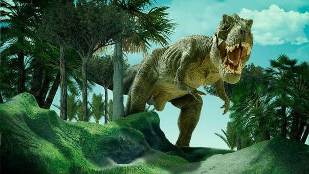 Ilustración de un tiranosaurio rex