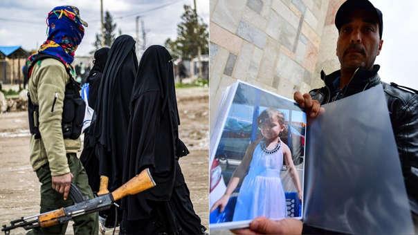 Entre las ruinas del Estado Islámico (izquierda), el francés Mostafa Tarbouni busca a su sobrina, llevada a Siria por su padre yihadista hace cuatro años.