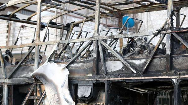 La Policía Nacional detuvo esta madrugada al conductor y copiloto del bus siniestrado en Fiori.
