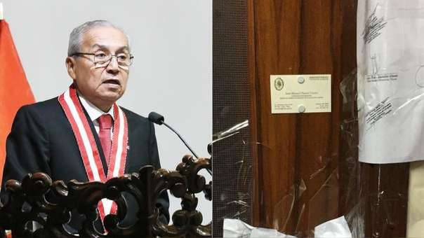 Chávarry fue acusado de ordenar el ingreso a una oficina lacrada.
