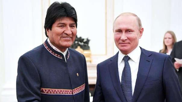 Evo Morales y Vladímir Putin