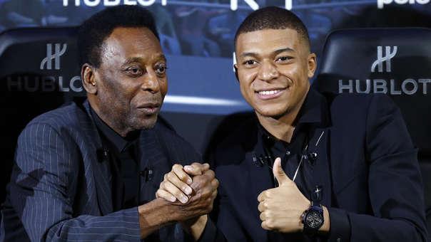 Pelé y Kylian Mbappé