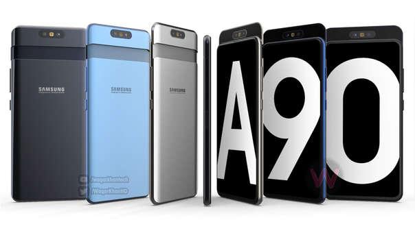 Este render nos muestra cómo luciría el Samsung A90.