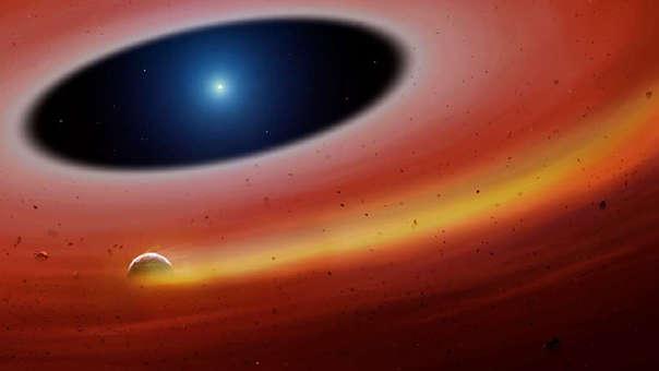 Ilustración del estado del exoplaneta SDSS J122859.93+104032.9.