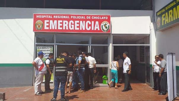 Agente fue trasladado a la Sanidad y luego referido al hospital Regional de Lambayeque
