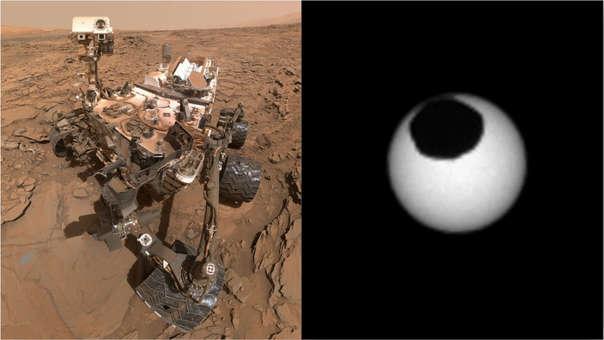 El rover Curiosity captó imágenes espectaculares  de los satélites de Marte.