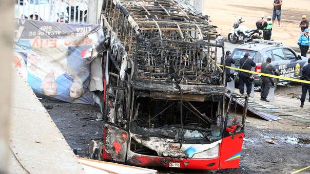 El domingo 31 de marzo el bus de la empresa Sajy Bus se incendió en el terminal Marco Polo de Fiori y dejó 17 fallecidos.