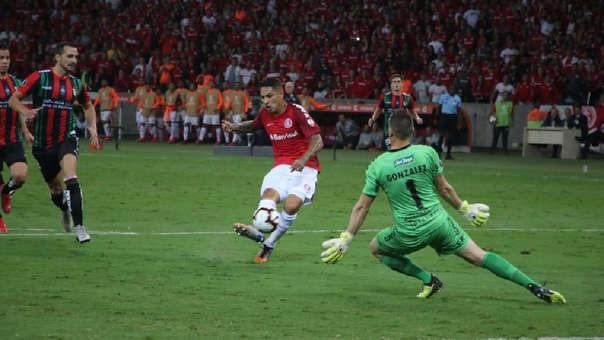 Quebró a defensor y definió con clase: el GOLAZO de Paolo Guerrero con Inter en la Libertadores