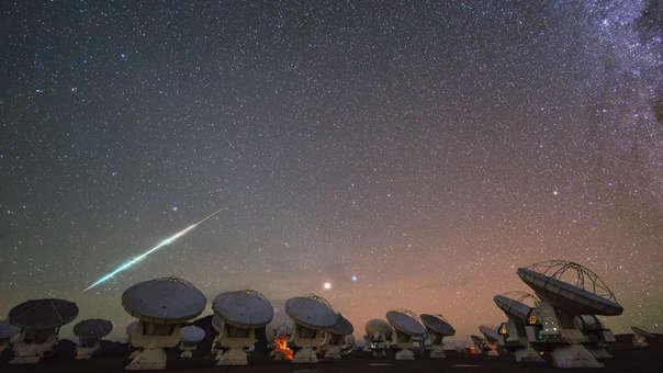 Parte del Observatorio de Atacama, desde donde se obtuvo parte de la imagen del agujero negro