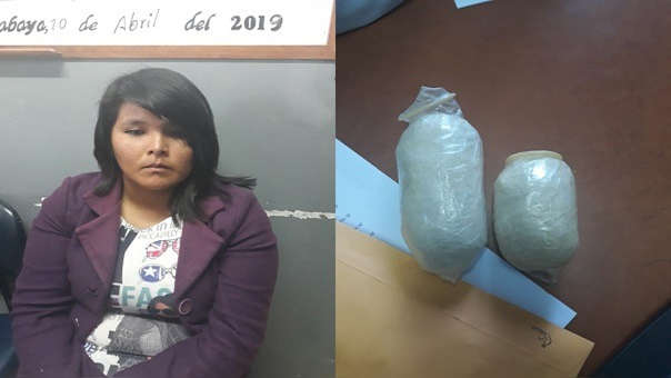 Mujer es detenida por intentar ingresar droga al Penal de Socabaya.