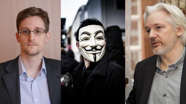 Edward Snowden, Anonymous y Julian Assange: protagonistas en las filtraciones