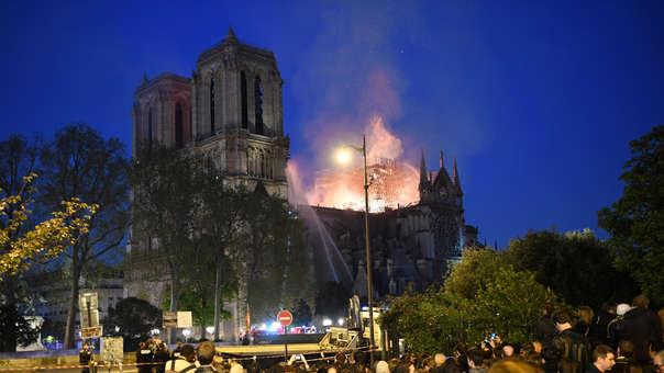 Incendio en Catedral de Notre Dame