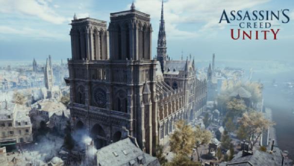 Ubisoft invita a donar para la reconstrucción de la catedral de Notre Dame.