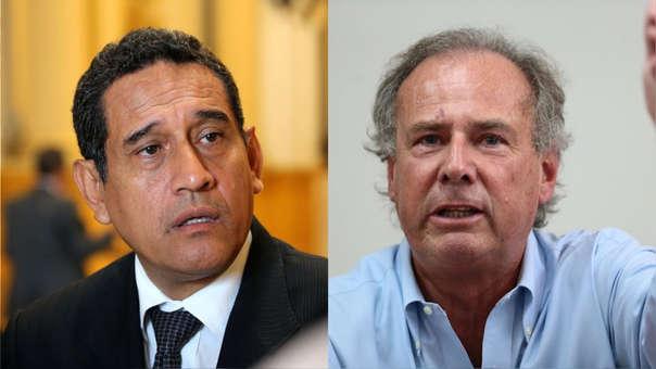 Mesías Guevara (izq.), presidente de Acción Popular, no coincide con lo dicho este jueves por el excandidato presidencial, Alfredo Barnechea (der.).