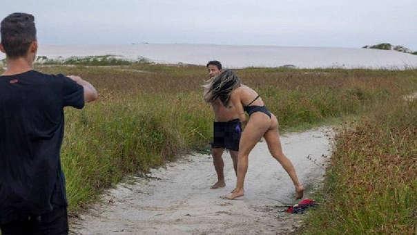 Joyce Vieira, la luchadora brasileña de artes marciales mixtas le dio una paliza a un acosador sexual en una playa de Río de Janeiro.