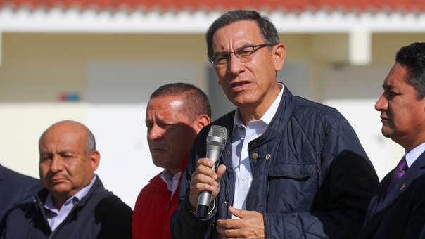 El presidente de la República, Martín Vizcarra, también lamentó el fallecimiento del exmandatario Alan García.