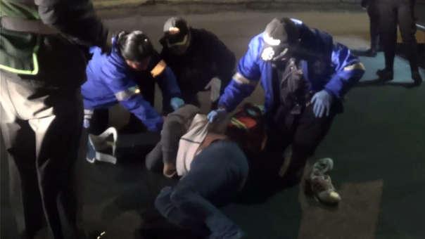 Accidente se produjo en la Av. Juan de la Torre.
