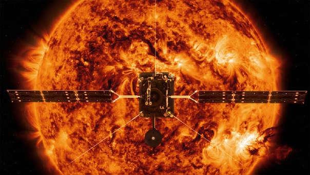 Ilustración de la sonda Solar Orbiter.