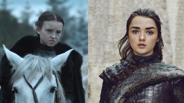 Lyanna Mormont y Arya Stark