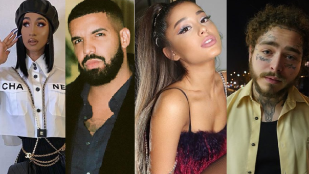 Cardi B, Drake, Ariana Grande y Post Malone