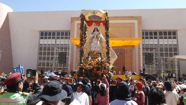 Festividad de la Virgen de Chapi en Arequipa.