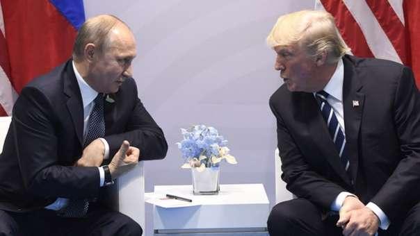 Vladímir Putin y Donald Trump durante una cumbre
