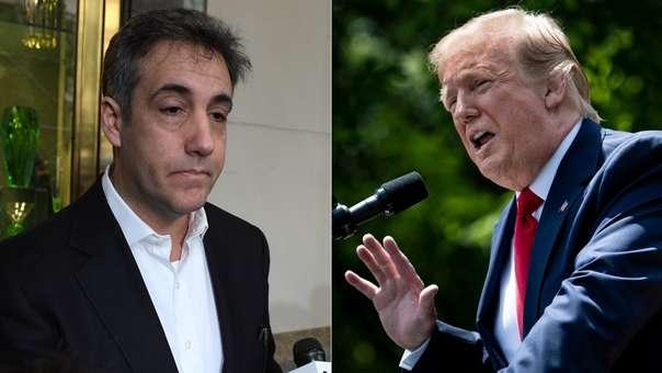 Michael Cohen (izquierda) pasó de ser abogado de Donald Trump (derecha) a declarar en su contra, bajo juramento, ante el Congreso.