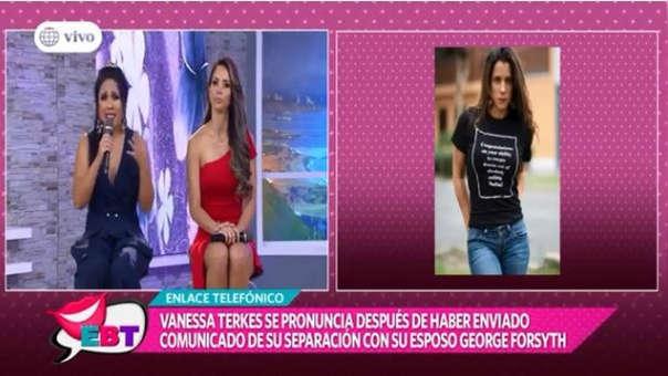 Tula Rodríguez envía emotivo mensaje a Vanessa Terkes al saber el fin de su matrimonio con George Forsyth.