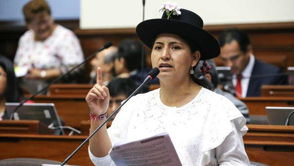 """Tania Pariona dijo que los congresistas de Fuerza Popular """"deberían de ser los interpelados"""