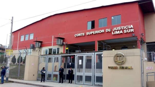 Un sujeto realizó disparos al interior de la Corte Superior de Justicia de Lima Sur.