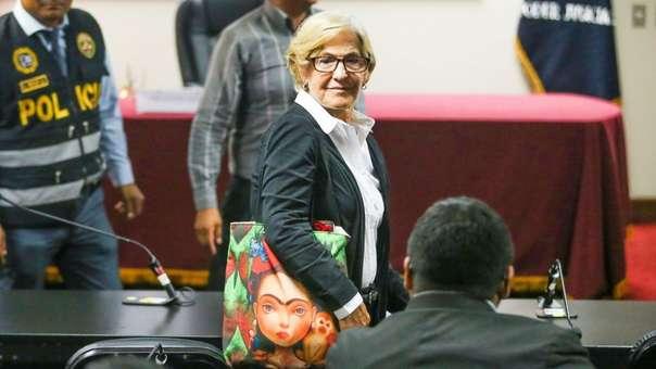 Susan Villarán en la audiencia de este miércoles