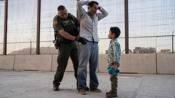 Inmigrante en frontera de EE.UU.