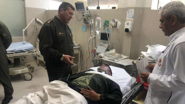 Atención médica a soldados heridos trasladados desde Amazonas.