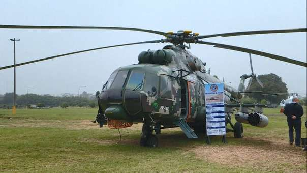 Un helicóptero de fabricación rusa en Perú