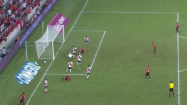Llegó de sorpresa: el gol de Marco Ruben a River Plate por la Recopa Sudamericana
