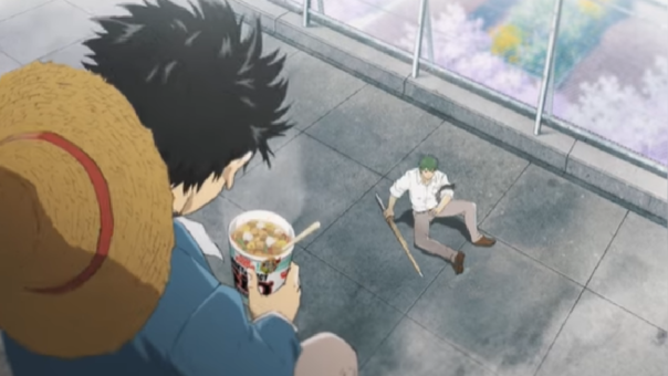 La animación de Cup Noodle nos presenta a los populares personajes One Piece.