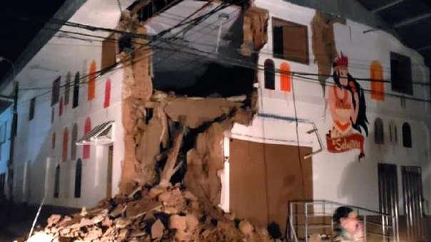 Diversas viviendas de la ciudad de Yurimaguas se han visto afectadas por el fuerte sismo que inició a las 2:41 horas de la madrugada de este domingo.