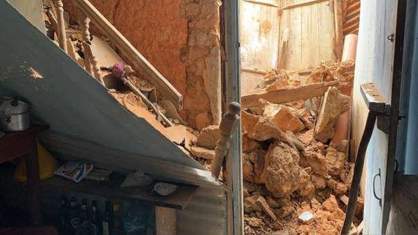 Más de 200 casas han quedado inhabitables con el terremoto.