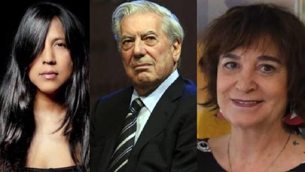 Gabriela Wiener, Mario Vargas Llosa y Rosa Montero.
