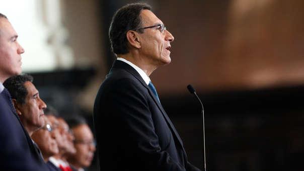 El presidente Martín Vizcarra anunció que hace uso de la cuestión de confianza por la continuidad de la reforma política y la lucha contra la corrupción.
