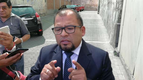 Alcalde provincial de Arequipa, Omar Candia Aguilar.