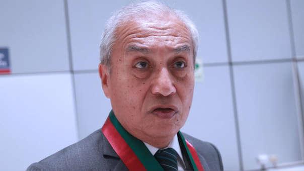 El fiscal supremo negó actuar ilícito en casa de Hinostroza.